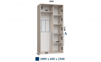 Шкафы-купе 1000*600*2100 Феникс Стандарт
