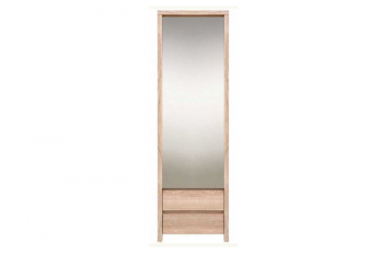Шкаф с зеркалом Каспиан Дуб Сонома SZF 1D2SP БРВ